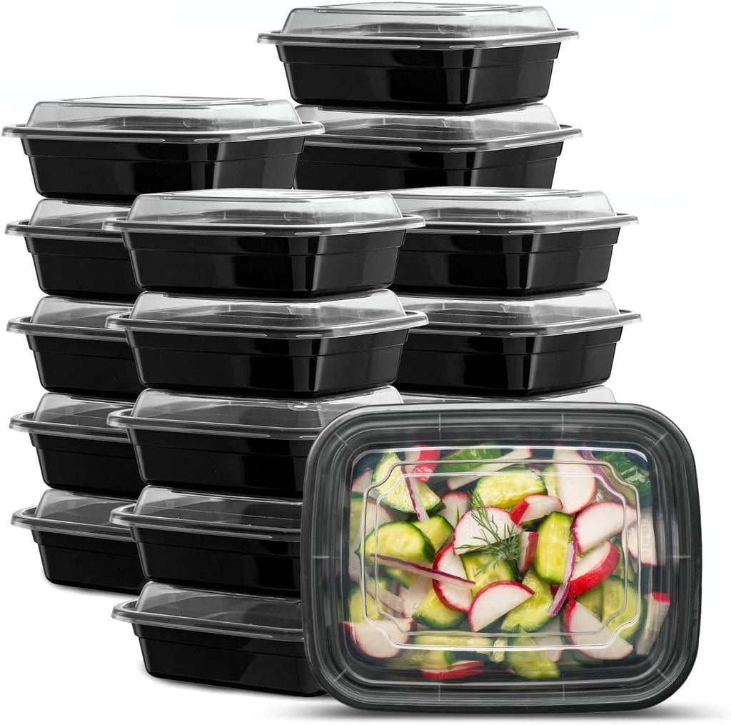 12 oz. Meal Prep Containers With Lids, 1 Compartment Lunch Containers, Bento Boxes, Food Storage Containers