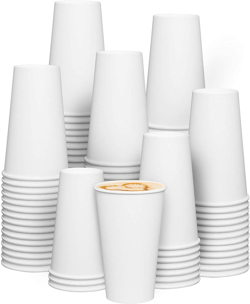 16 oz. White Paper Hot Cups