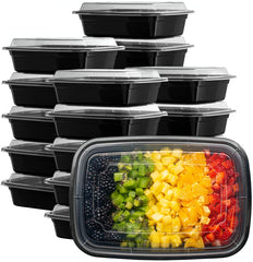 28 oz. Meal Prep Containers With Lids, 1 Compartment Lunch Containers, Bento Boxes, Food Storage Containers