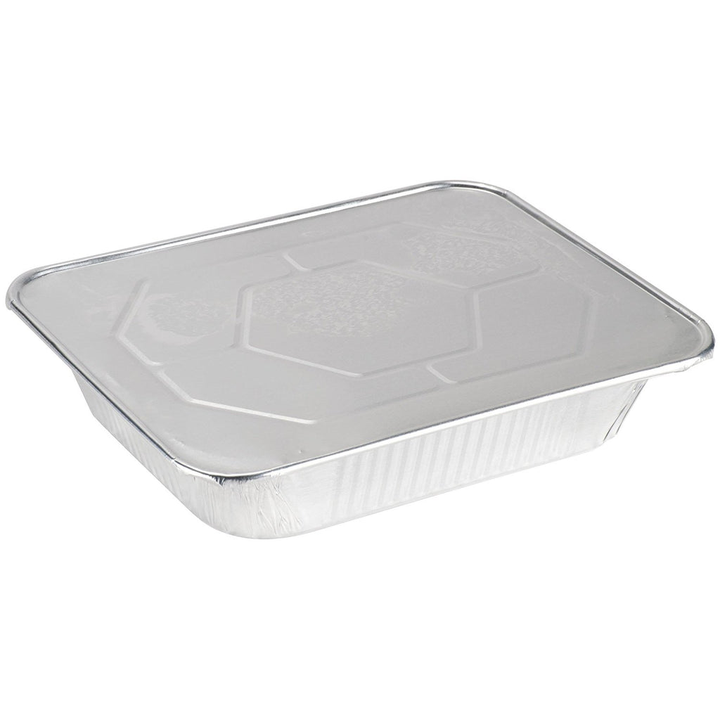 9 x 13 Aluminum Foil Steam Table Pans With Lids - Half Size Deep