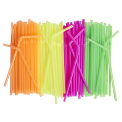 Neon Colored Flexible Drinking Straws [500 Count] Assorted Colors