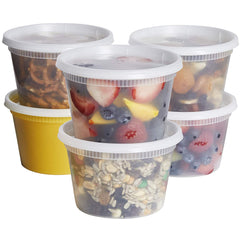 16 oz. Deli Food Storage Containers With Lids - Comfy Package