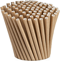 Kraft Paper Drinking Straws 100% Biodegradable & Ink-free