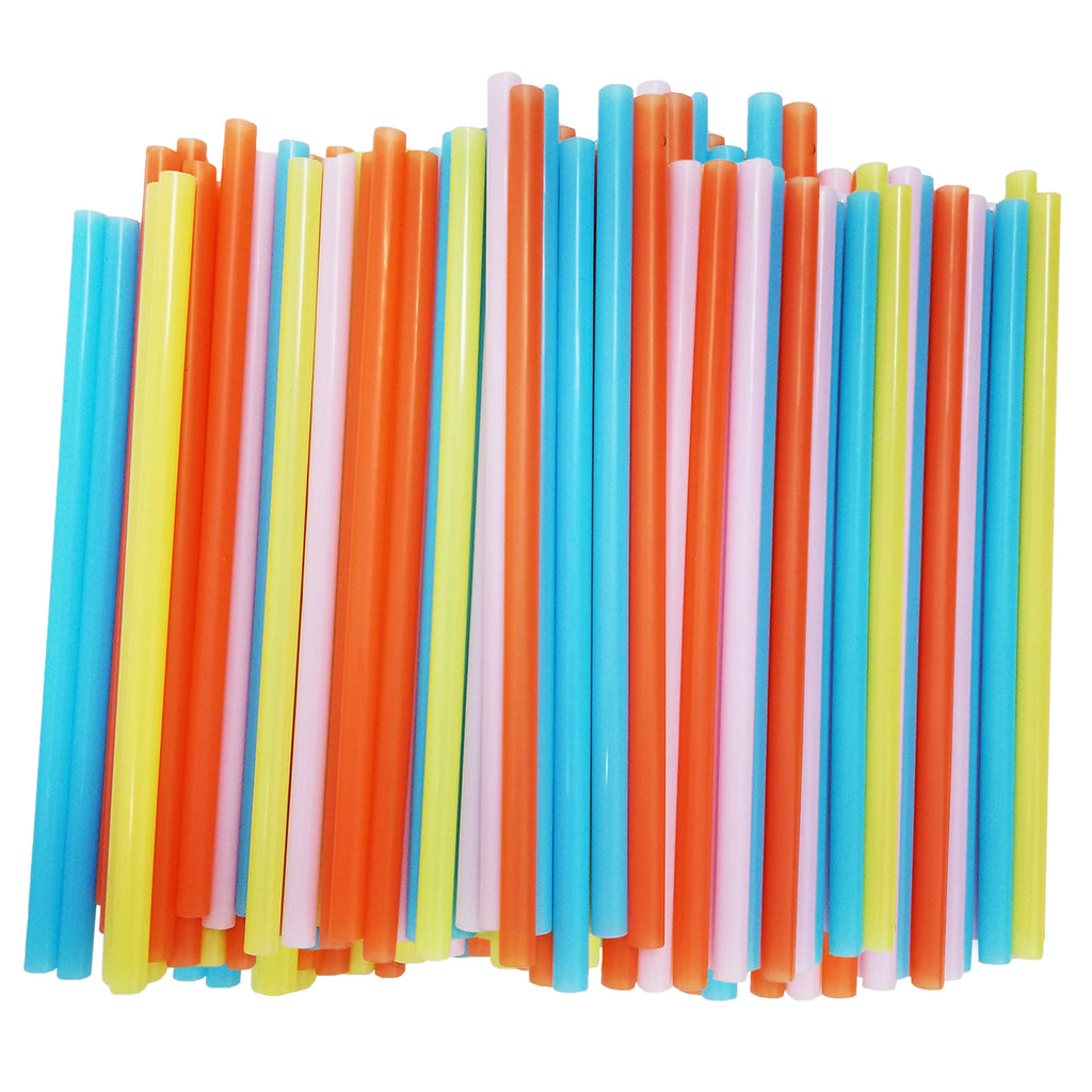 Jumbo Smoothie Straws Assorted Colors [100 Pack]