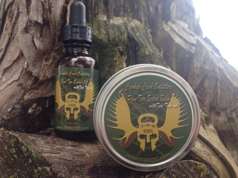 Crooked Creek Outfitters Pine Tar Beard Oil and Beard Balm