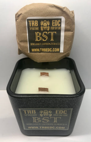 Bergamot Saffron & Tobacco Soap and Candle Combo