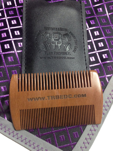 Sandalwood Beard Comb w/ Travel Case