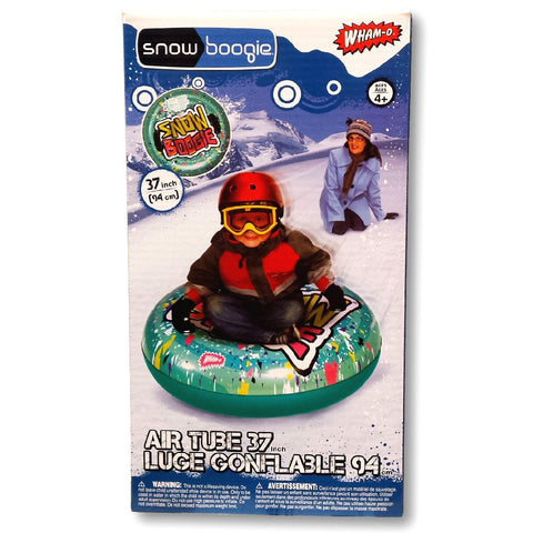 "Wham-O Snow Boogie 37"" Air Tube Inflatable Green Snow Tube"