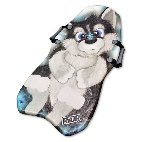 "Classic 36"" Rydr Foam Kid's Snow Sled with Cool Husky Graphics"