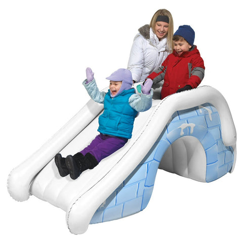 Aqua Leisure Pipeline Igloo Snow Slide and Play Tunnel - Winter Backyard - 1