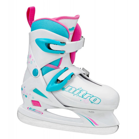 Lake Placid Nitro 8.8 Girl's Adjustable Size Figure Ice Skates