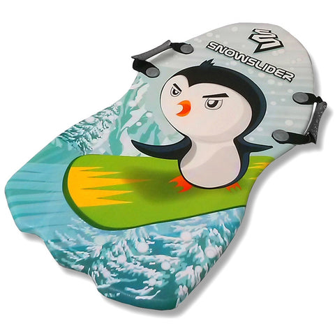 "Classic 36""Snow Slider Foam Kid's Snow Sled with Cool Penguin Graphics - Winter Backyard"