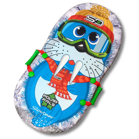 "Snow Daze Polar Pals Walrus 36"" Foam Snow Sled - Winter Backyard"