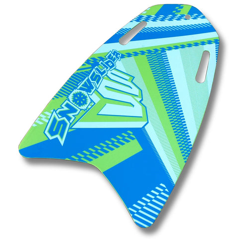 "SnowSlider Skimmer 38"" Blue/Green Roll-Up Slick Bottom Sled - Winter Backyard"