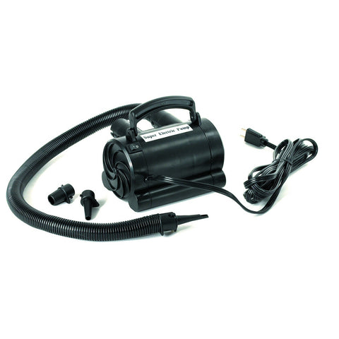 International Leisure High Capacity 110V Electric Air Pump - Winter Backyard