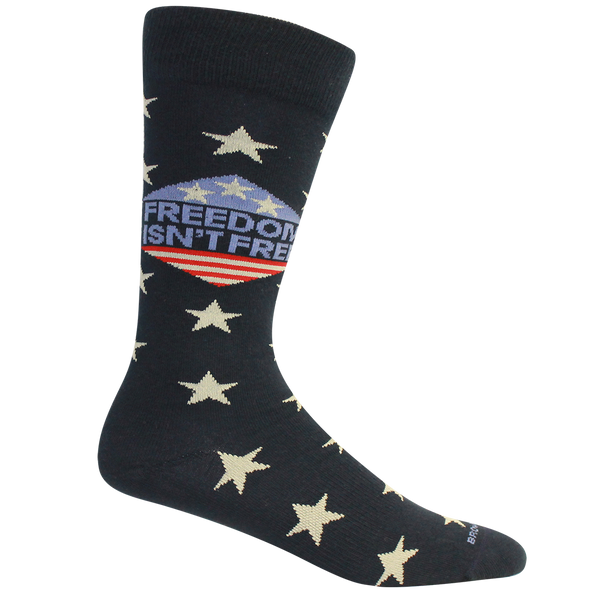 "Brown Dog Hosiery ""Freedom Isn't Free"" Socks Navy"