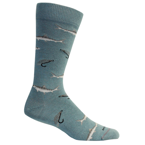 "Brown Dog Hosiery ""Trunk Bay"" Socks Bluestone"