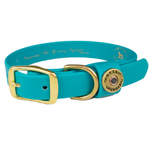 Water Dog Collar Teal