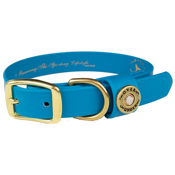 Water Dog Collar Aqua Blue