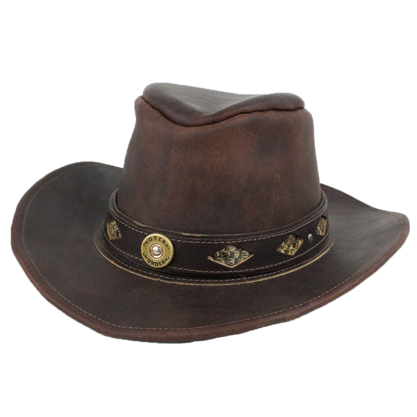 The Leather Outback Hat