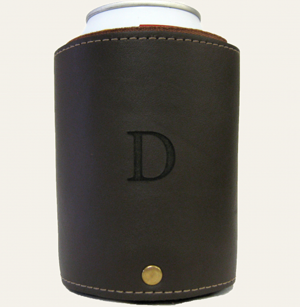 Customizable Leather Can Cooler
