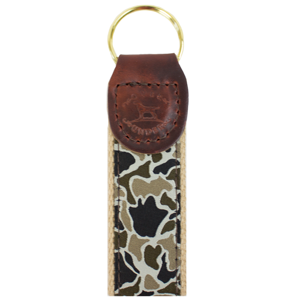 Duck Camo Ribbon Key Fob
