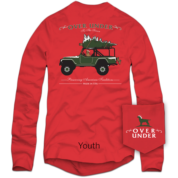 L/S Youth Tis The Season - Red