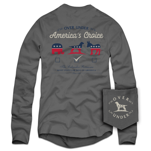 L/S America's Choice T-Shirt Grey