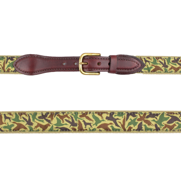 Youth Ribbon Belt--Old School Camo