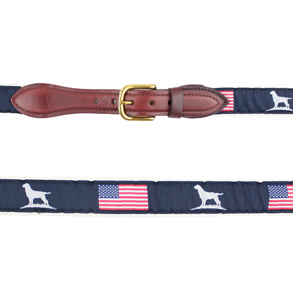 Youth Ribbon Belt--Patriot