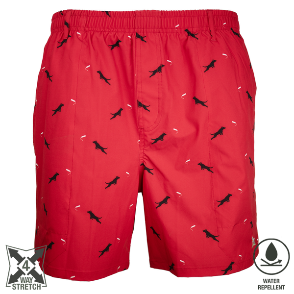 Dock Dog Swim Trunk Red