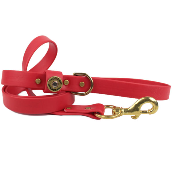 Water Dog Leash Red