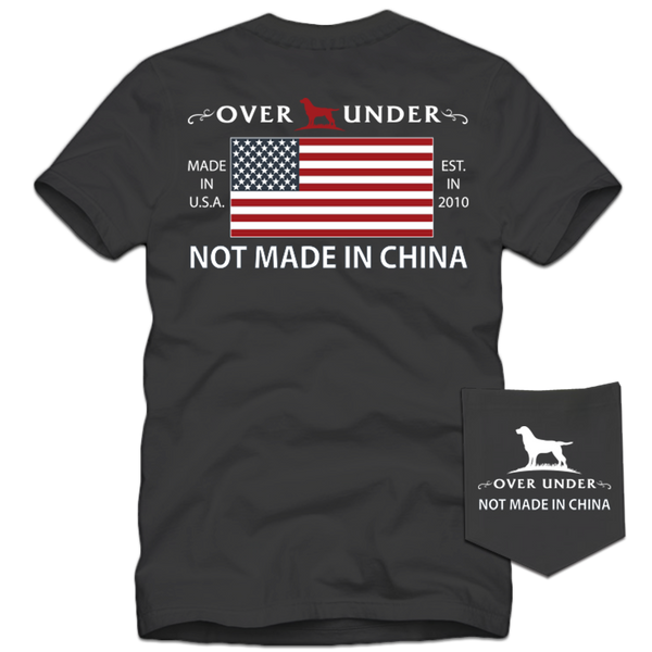 S/S Not Made in China T-Shirt Charcoal