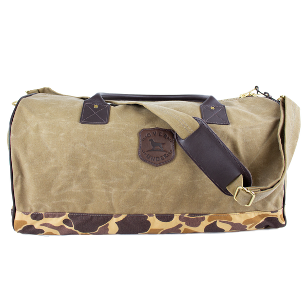 Waxed Rigger's Tote Field Tan/Camo