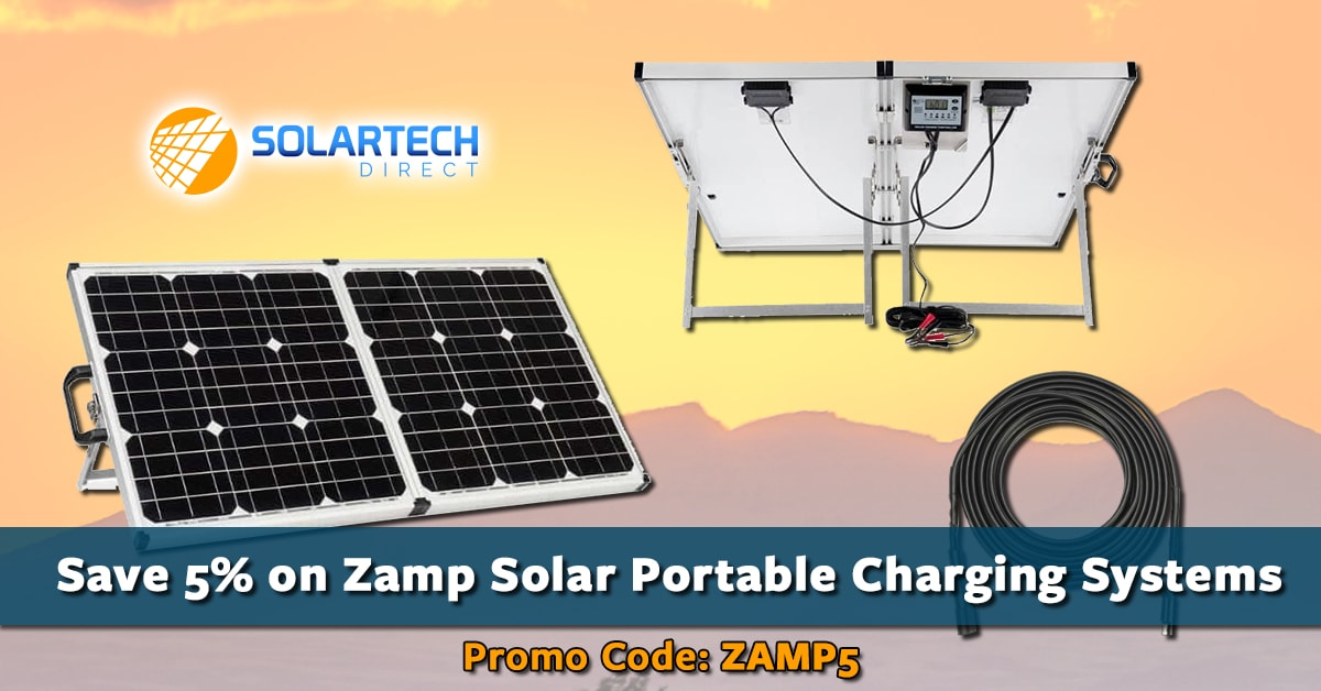 Save 5% on All Zamp Solar Products. Use promo code: ZAMP5