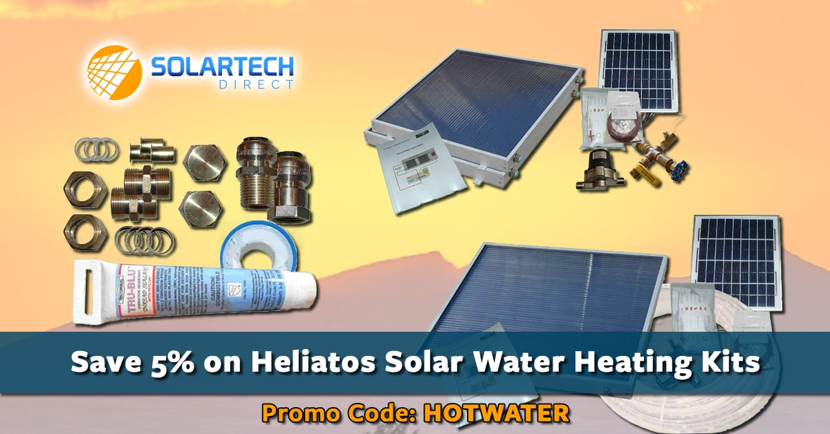 Save 5% on Heliatos Solar Water Heating Kits