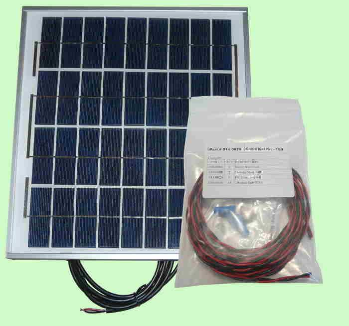Heliatos 25W Photovoltaic Solar Panel with Wire and Mounting Kit
