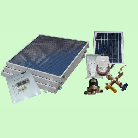 Image of Solar Water Heater System 3-panels EZ-Connect Kit from Heliatos Solar