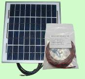 Heliatos 10W Photovoltaic Solar Panel with Wire and Mounting Kit