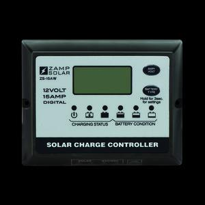 Zamp Solar 15-Amp 5-Stage Weatherproof Deluxe Digital PWM Charge Controller