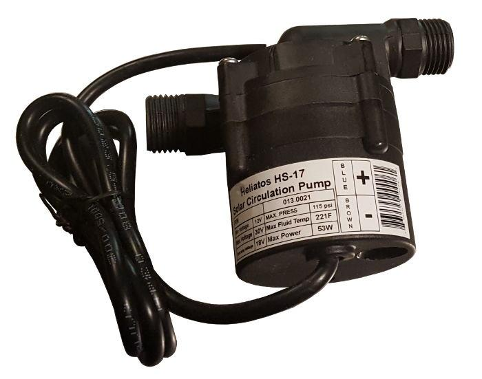 Heliatos HS-17 Solar DC Circulation Pump