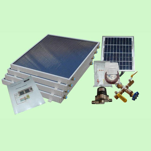 Image of Solar Water Heater System 4-panels EZ-Connect Kit from Heliatos Solar