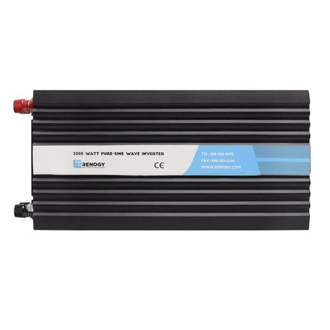Renogy 2000W 12V Off-Grid Pure-Sine Wave Battery Inverter w/ Cables