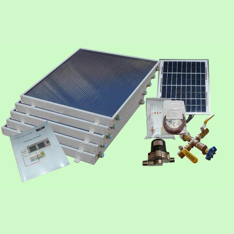 Solar Water Heater System 5-panels EZ-Connect Kit from Heliatos Solar
