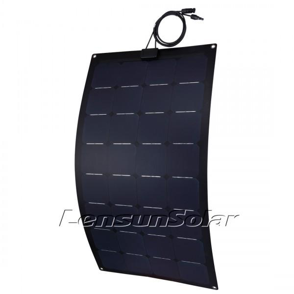 Lensun® 100W Sunpower 12V Black Flexible Solar Panel - Fiberglass Back Sheet
