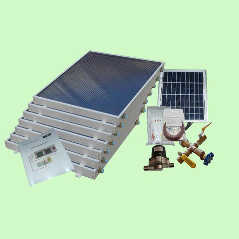 Solar Water Heater System 7-panels EZ-Connect Kit from Heliatos Solar
