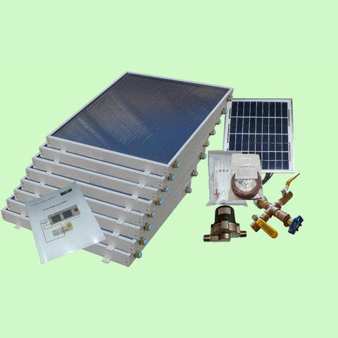 Solar Water Heater System 8-panels EZ-Connect Kit from Heliatos Solar