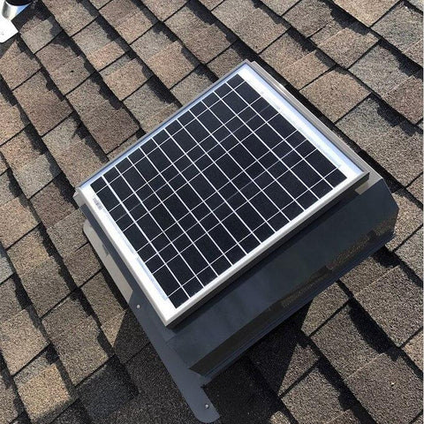 Image of Installation Attic Breeze GEN 2 Self-Flashing 30W Attached Solar Attic Fan