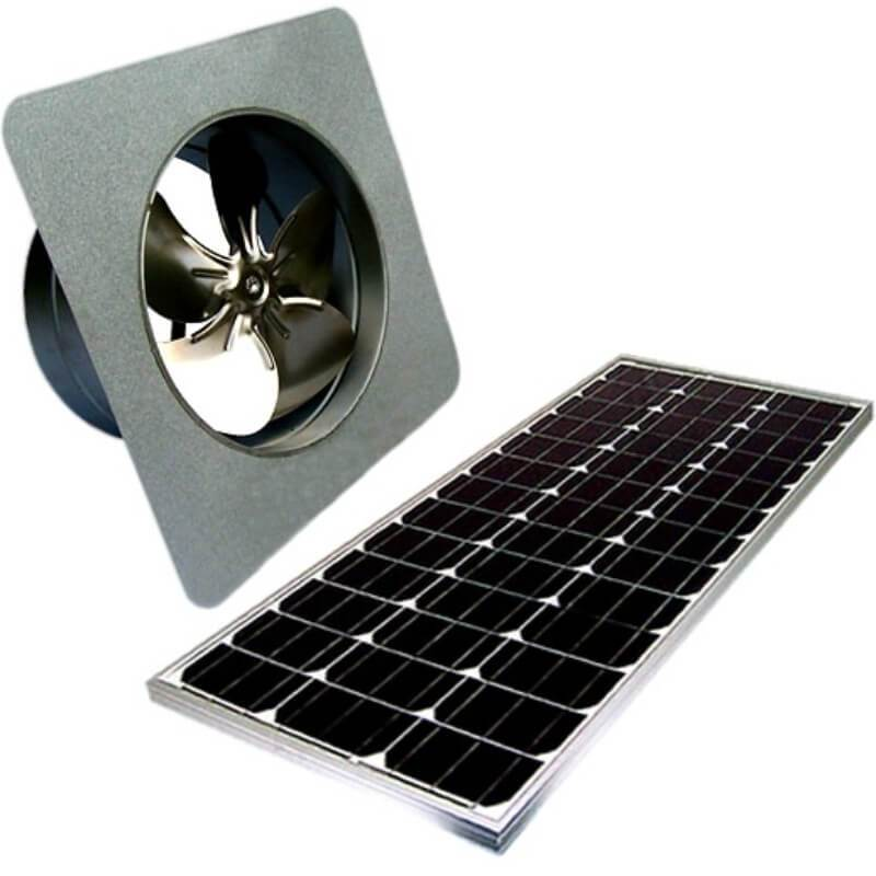 60 Watts Gable Mount GEN 2 Solar Attic Fans From Attic Breeze AB-6052