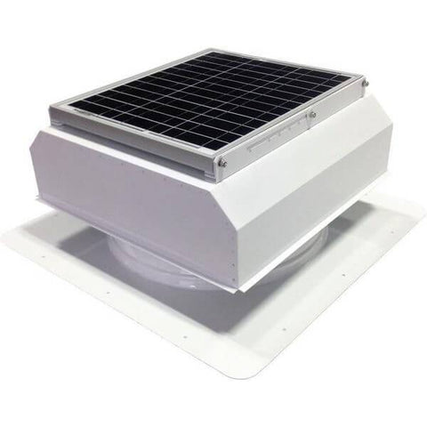 Image of Self-Flashing 30 Watt Attached GEN 2 Solar Attic Fans From Attic Breeze AB-3022A - White